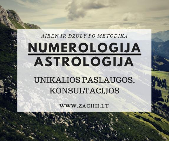 Astro-numerologija. Unikalios paslaugos