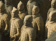 ARMY OF TERRACOTA WARRIORS. XIAN. CHINA
