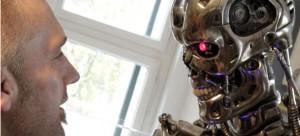 Robotas – mechaninis aparatas, galintis atlikti užprogramuotas fizines užduotis. Robotas gali būti valdomas tiesiogiai žmogaus arba veikti valdomas užprogramuoto kompiuterio. Robotai gali atlikti užduotis, kurios yra pavojingos žmogui, dirbti žmonėms kenksmingoje aplinkoje. Jie taip pat gali atlikti monotoniškas, dažnai pasikartojančias užduotis, tokiu būdu pigiai pakeisdami žmogaus rankų darbą.