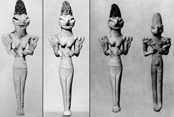 Rastos Reptilijų statulos