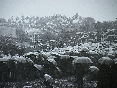 Fatimos stebuklą 1917 metais Portugalijoje stebėjo tūkstančiai žmonių