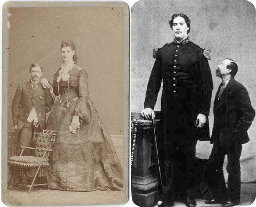 Anna ir Martinas šalia normalaus ūgio vyrų