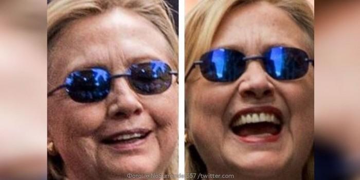 Iš kairės tikroji Hillary Clinton, o iš dešinės - jos antrininkė.