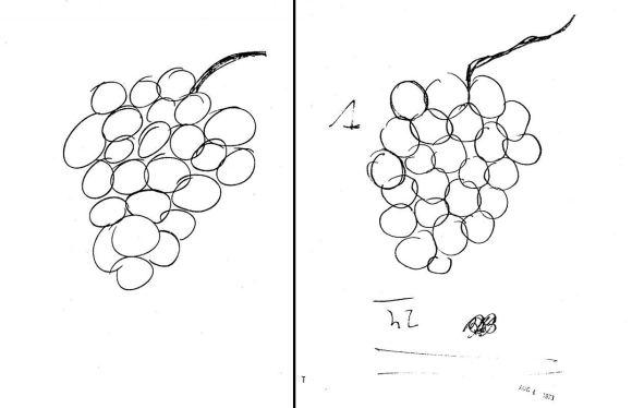 CŽV išslaptintų dokumentų archyvo iliustr./U.Gelleris, turėjęs atkartoti kito žmogaus piešinį, savo piešinį (dešinėje) nupiešė nežinodamas, kas nupiešta kairiajame.