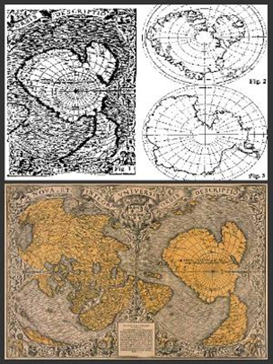 16 a. Antarktidos žemėlapis | ancientdestructions.com